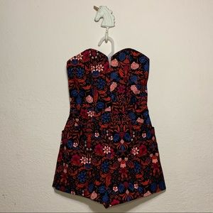 H&M Conscious Floral Strapless Structured Romper